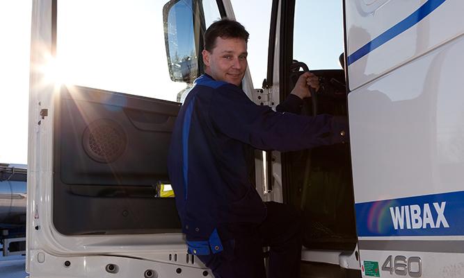 Ismo Konttaniemi, chaufför på Wibax Logistics