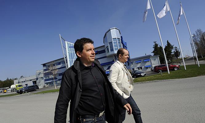 Jonas Wiklund, VD Wibax AB sekä Magnus Sundström, VD Wibax Logistics (foto: Joakim Nordlund)