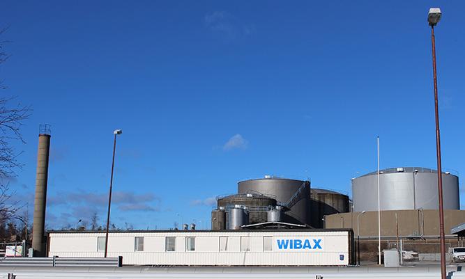 Wibax terminal i Skelleftehamn