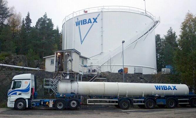 Wibax's terminal in Härnösand