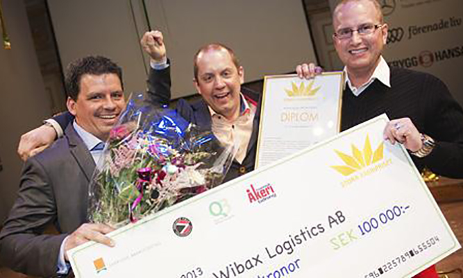 Wibax Logisitcs, voittaja Stora Åkeripriser vuonna 2013