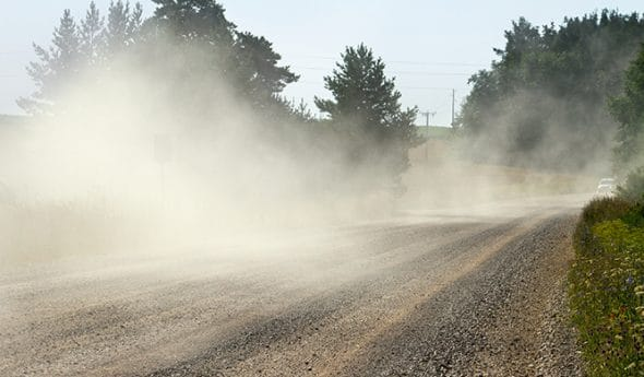 Leader when it comes to dust-binding for gravel roads