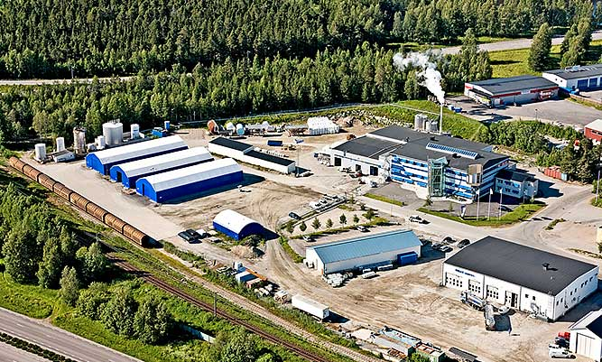 Wibax's head office in Piteå