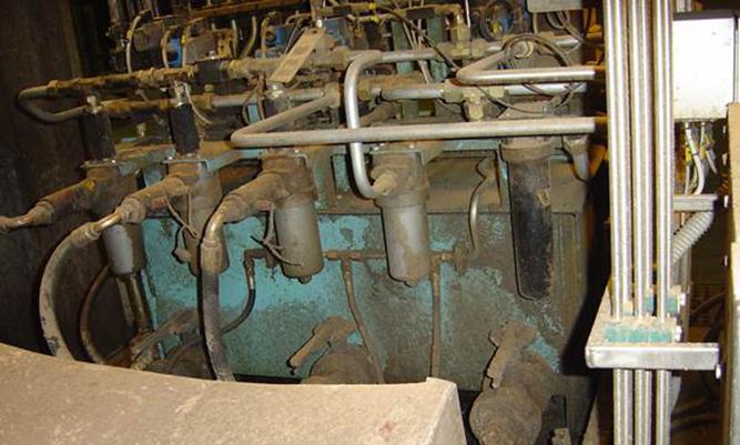 Hydralaggregat - före rengöring