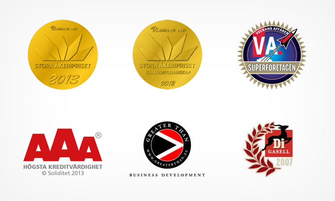 A selection of Wibax's distinctions in recent years.