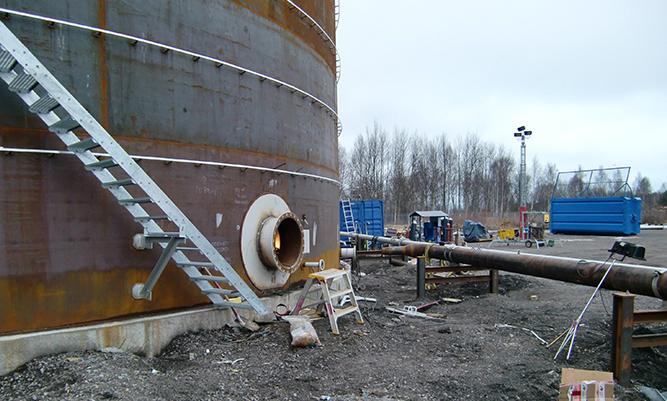 Renovering av cistern