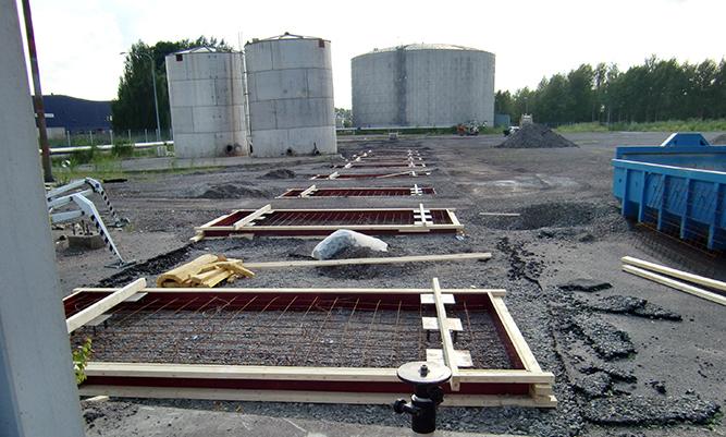 Betongfundament till cistern
