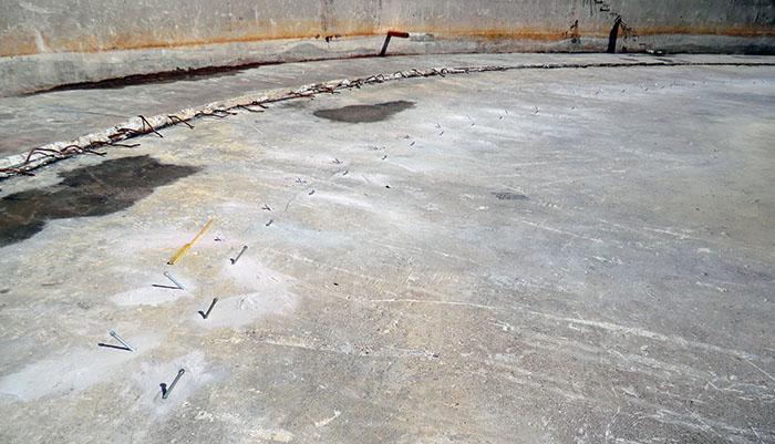 Injektointi betoniperustuksissa