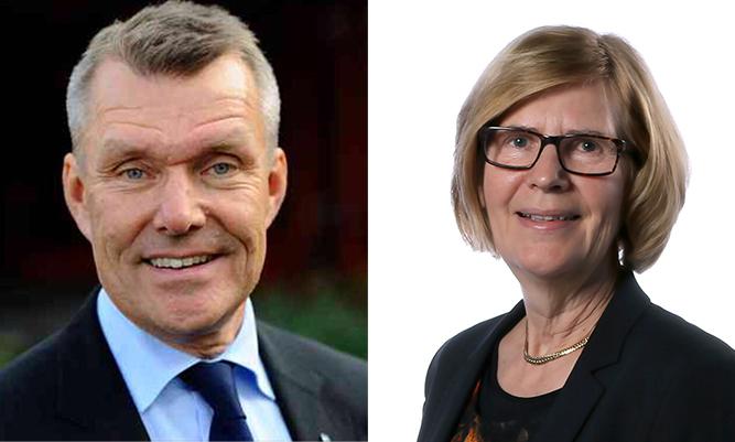Lars-Eric Aaro och Stina Blombäck