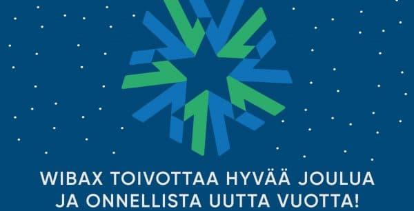 WIBAX toivottaa hyvää joulua ja onnellista uutta vuotta!