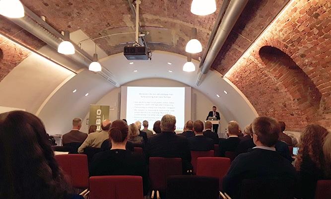 David Wiklund, Managing Director, Wibax Biofuels on paikalla Svebion kevätkonferensissä Tukholmassa.