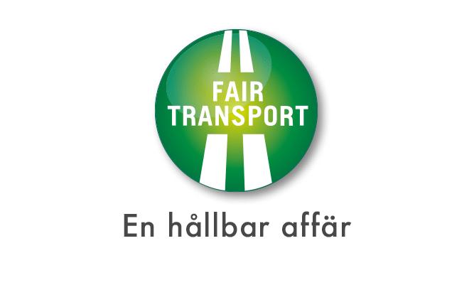 Fair Transport syftar till att verka för hållbara transporter: både gällande ansvar för företag och medarbetare, för miljö och klimat och för trafiksäkerhet.