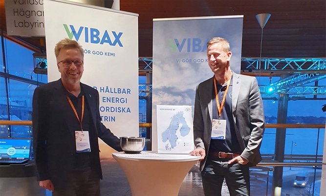 Anders Skoog and Tobias Marklund from Wibax Logistics were also present, greeting visitors at our stand.