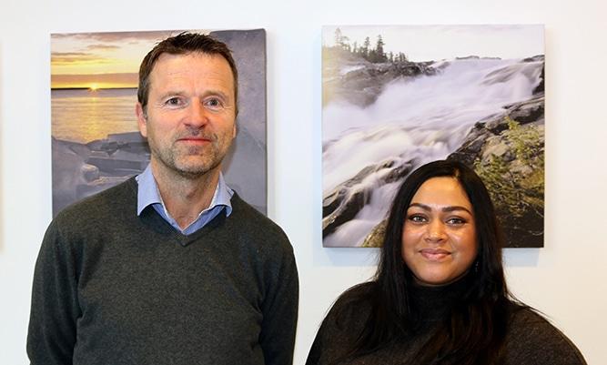 Fredrik Blom och Hannah Degerman från Piteå Kommun